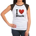 i-love-black-darkkkk-tee.png Women's Cap Sleeve T-
