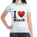 i-love-black-darkkkk-tee.png Jr. Ringer T-Shirt