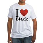 i-love-black-darkkkk-tee.png Fitted T-Shirt