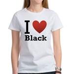 i-love-black-darkkkk-tee.png Women's T-Shirt