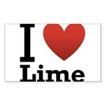 i-love-lime-light-tee.png Sticker (Rectangle 10 pk