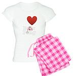 i-love-beer-pong-3-dark.png Women's Light Pajamas
