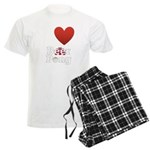 i-love-beer-pong-3-dark.png Men's Light Pajamas