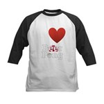 i-love-beer-pong-3-dark.png Kids Baseball Jersey