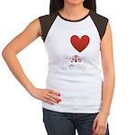 i-love-beer-pong-3-dark.png Women's Cap Sleeve T-S