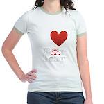 i-love-beer-pong-3-dark.png Jr. Ringer T-Shirt