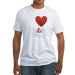 i-love-beer-pong-3-dark.png Fitted T-Shirt