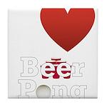 i-love-beer-pong-3-dark.png Tile Coaster