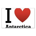 i-love-antartica-light-tee.png Sticker (Rectangle