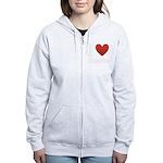I-love-Austin.png Women's Zip Hoodie