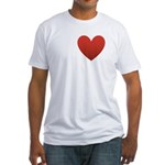 i-love-my-band.png Fitted T-Shirt