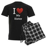 i-love-my-sister.png Men's Dark Pajamas