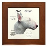 White Bull Terrier Framed Tile