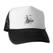 White Bull Terrier Trucker Hat