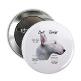 White Bull Terrier Button