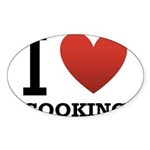 i-love-cooking.png Sticker (Oval 10 pk)
