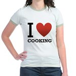 i-love-cooking.png Jr. Ringer T-Shirt