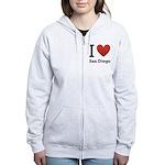 i-love-san-diego.png Women's Zip Hoodie