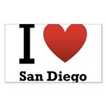 i-love-san-diego.png Sticker (Rectangle 10 pk)