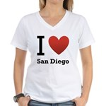 i-love-san-diego.png Women's V-Neck T-Shirt