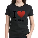 i-love-san-diego.png Women's Dark T-Shirt