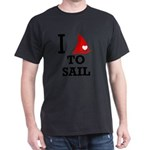 i-love-to-sail.png Dark T-Shirt