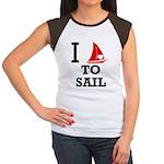 i-love-to-sail.png Women's Cap Sleeve T-Shirt