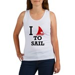 i-love-to-sail.png Women's Tank Top