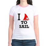 i-love-to-sail.png Jr. Ringer T-Shirt