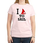 i-love-to-sail.png Women's Light T-Shirt