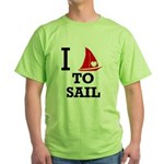 i-love-to-sail.png Green T-Shirt