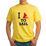 i-love-to-sail.png Yellow T-Shirt