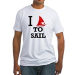 i-love-to-sail.png Fitted T-Shirt