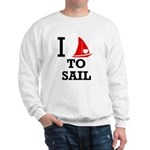 i-love-to-sail.png Sweatshirt