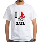 i-love-to-sail.png White T-Shirt