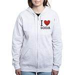 i-love-soda.png Women's Zip Hoodie