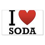 i-love-soda.png Sticker (Rectangle 10 pk)
