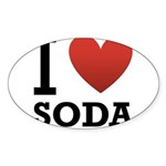 i-love-soda.png Sticker (Oval 50 pk)
