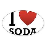 i-love-soda.png Sticker (Oval 10 pk)