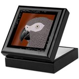 Portrait of an African Grey Keepsake Box
