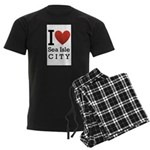 sea isle city rectangle.png Men's Dark Pajamas