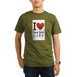 sea isle city rectangle.png Organic Men's T-Shirt