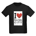 sea isle city rectangle.png Kids Dark T-Shirt