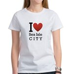 sea isle city rectangle.png Women's T-Shirt