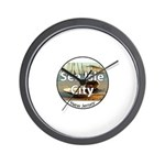 sea isle city rectangle.png Wall Clock