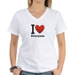 ihearteveryone.png Women's V-Neck T-Shirt