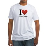 ihearteveryone.png Fitted T-Shirt