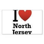 i love north jersey.png Sticker (Rectangle 10 pk)