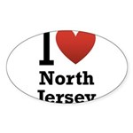i love north jersey.png Sticker (Oval 10 pk)