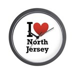 i love north jersey.png Wall Clock